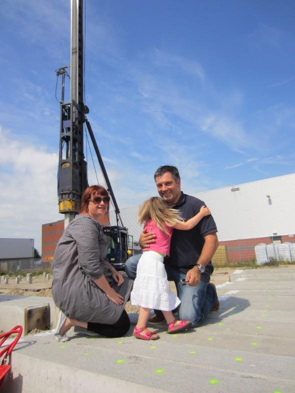 Pieter, Helen en Cato bij heimachine