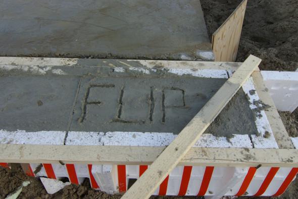 Flip in fundering