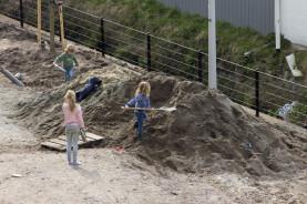 De kinderen waren ook hard aan het werk